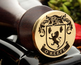 O'Keefe Family crest wax seal Design 1
