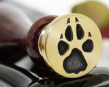 Wolf Paw print wax seal stamp
