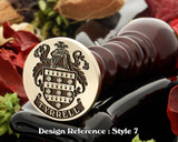 Tyrrell Family Crest Wax Seal D7