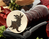 Griffin wax seal, reversed for engraving.  From 25mm size only if adding text