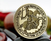 King Edward III - Hand drawn design.  From 35mm size Round