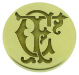 Design 1, engraved wax seal, photo reversed