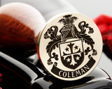 Coleman family crest wax seal