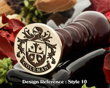Coleman family crest wax seal D10