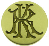 Design 2 - photograph of engraved wax seal, photograph reversed