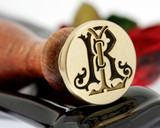 Wax Seal Victorian Monogram LR RL Design 1