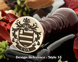 Cox Family Crest Wax Seal D15