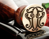 Victorian Monogram wax seal NN Design 1