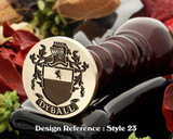 Dyball Family Crest Wax Seal D23