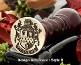 Stevens Family Crest Wax Seal D9