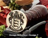 Lovett 2 (Irish) Family Crest Wax Seal D7