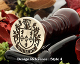 Wilburn Family Crest Wax Seal D4