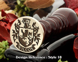 Wilcox Family Crest Wax Seal D18