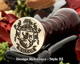 Wilcox Family Crest Wax Seal D23