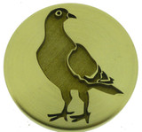 Engraved wax seal design, (photo reversed) Pigeon