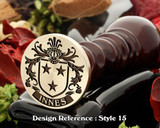 Innes Family Crest Wax Seal D15