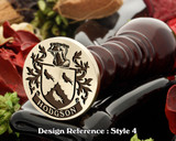 Hodgson family crest wax seal