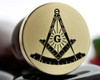 Bespoke Masonic Square and Compass design, if adding edge text we recommend 30mm size.