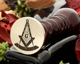 MASONIC 13 Square and Compass wax seal