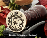 Butcher Family Crest Wax Seal D1