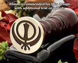 Sikh Symbol Sikhism Wax Seal