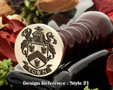 Town Family Crest Wax Seal D21