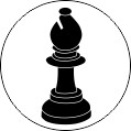 Chess Bishop 2 - minimum size 25mm
