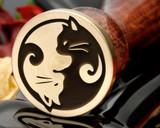 Cat Yin N Yang Bespoke design Wax Seal Stamp from 25mm