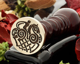 Old Norse Sleipnir, the eight legged horse of the God Odin, wax seal stamp.