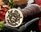 Garth Family Crest Wax Seal D9a - engraved in reverse