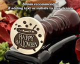 Happy Halloween Witches Cauldron Wax Seal