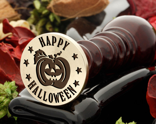 Happy Halloween Pumpkin D2 Wax Seal