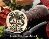 Adams Family Crest Wax Seal D21