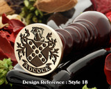 Adcock Family Crest Wax Seal D18