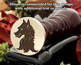 Heraldry Fox Wax Seal Stamp D1