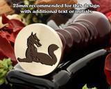 Heraldry Fox Couchant Reguadant Wax Seal Stamp