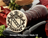 Baxter Family Crest Wax Seal D15