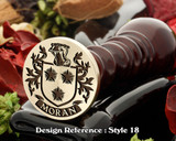Moran Family crest wax seal D18