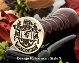 McLoughlin Family crest wax seal D9