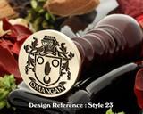 O'Mangan family crest wax seal D23