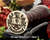 Loughlin family crest wax seal D4