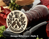 Family crest wax seal D4
