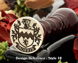 Morris Family Crest Wax Seal D18