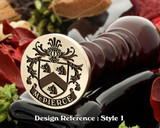 McPierce Family crest wax seal D1