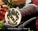 Dawson  Family Crest Wax Seal D21