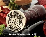 O'Duggan Family Crest Wax Seal D23