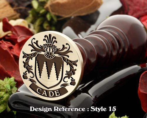 Cade Family Crest Wax Seal D15