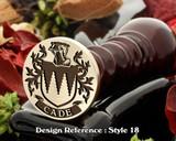 Cade Family Crest Wax Seal D18