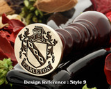 Carleton Family Crest Wax Seal D9