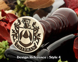 Chapman Family Crest Wax Seal D4